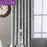 YCENTRE Decorative Window Drapes The Beauty Of Lines Jacquard Heavy Curtains European Modern Curtains/Rideau/Bedroom/Livingroom