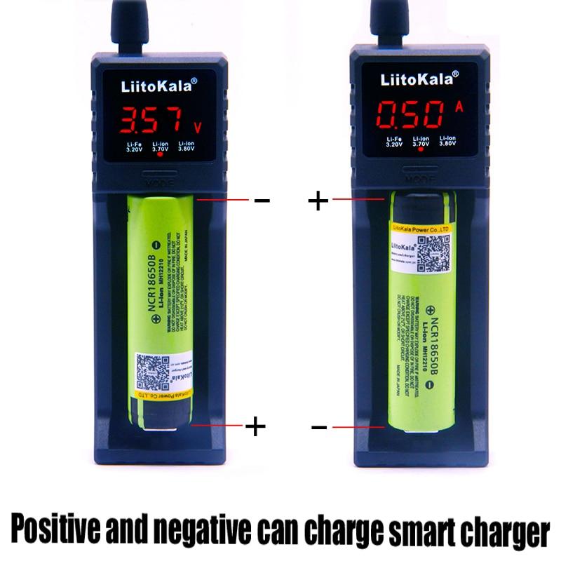 LiitoKala lii-S1 18650 зарядное устройство для 26650 16340 RCR123 14500 LiFePO4 1,2 V Ni-MH Ni-Cd перезаряжаемая батарея умное зарядное устройство
