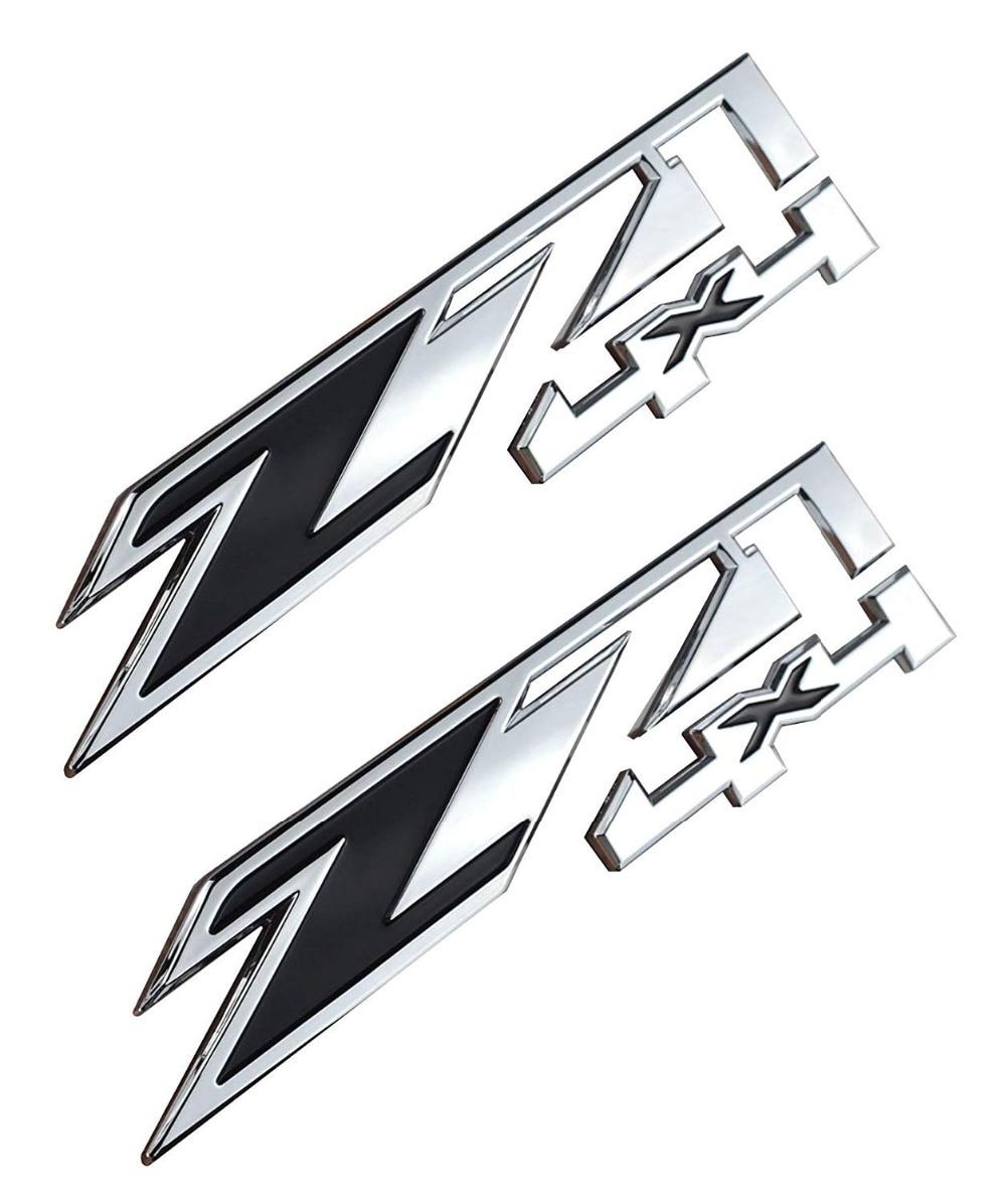 2 piezas Z71 4x4 emblemas de repuesto para GMC Chevy plateado Sierra tahoad Perin nuevo 1500 2500 3500 calcomanía