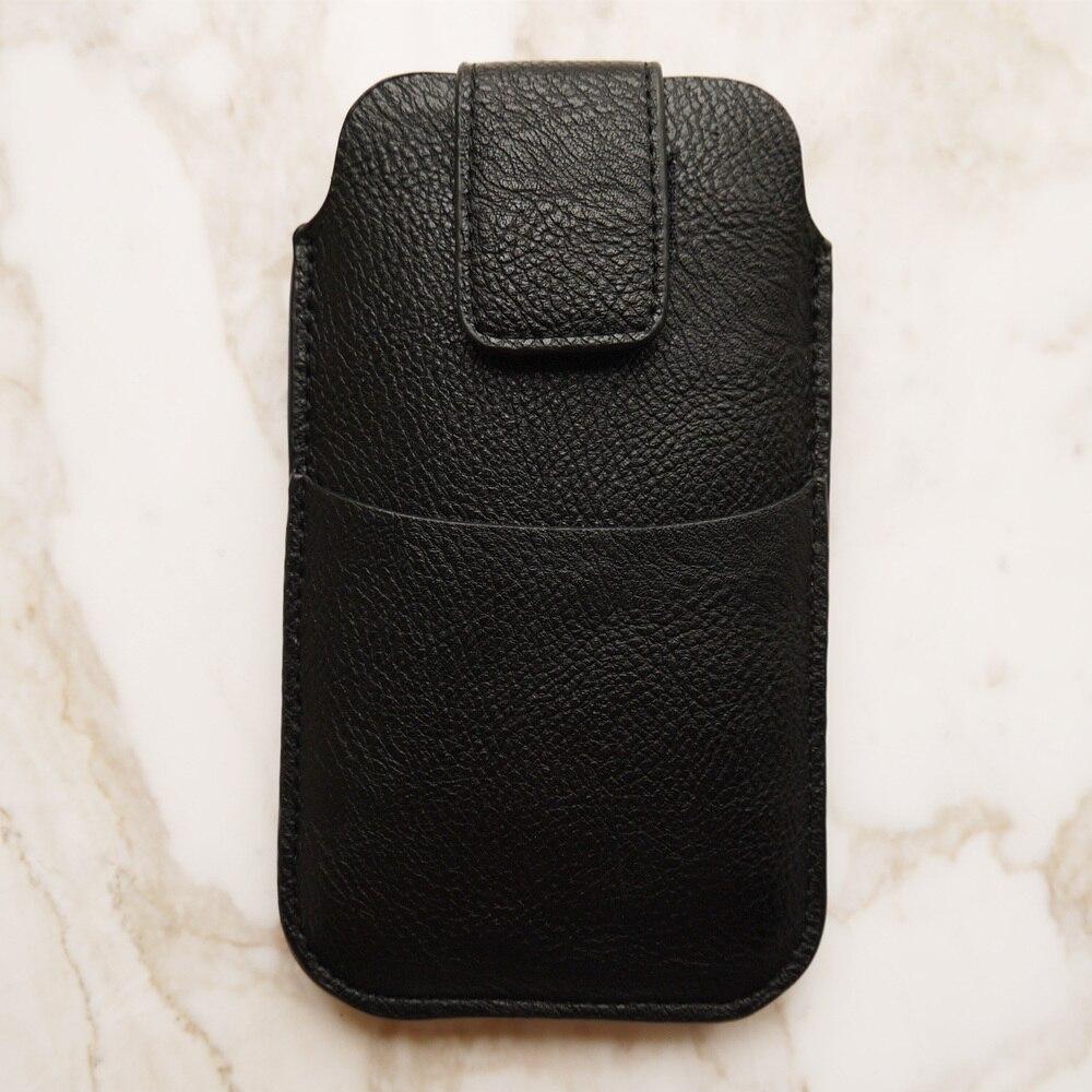 Para iPhone Xs Max Case Xr X 8 Plus 7 Plus 6 6s Plus cinturón de cuero bolsa con bolsillo tarjetero saco suave hombre estilo de negocios