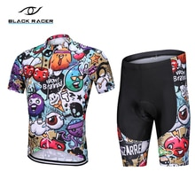 Negro RACER de manga corta Ciclismo Jersey de verano ropa de bicicleta uniforme transpirable ropa de bicicleta Mallot Ciclismo Hombre mtb Jersey