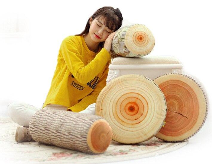 Wood Shape Pillow Sofa Cushion Funny Tissue Box Toy Doll Sofa Car Head Rest HomeDecor Home&Garden Textile seat cushion