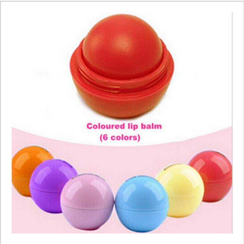 6 farben Lip Balm Organischen Zutaten Schutz Süßer Geschmack Obst Verschönern Lippen Ball Make-Up-Tool