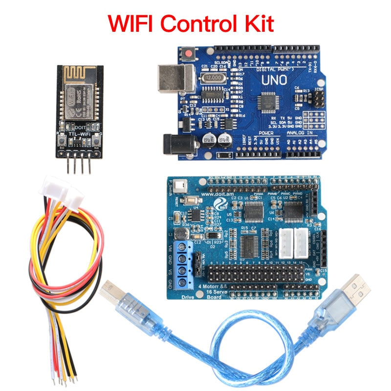 Bluetooth WiFi Handle Controller Kit for Arduino Robot Arm Gripper Tank Car Chassis DIY STEM Kit