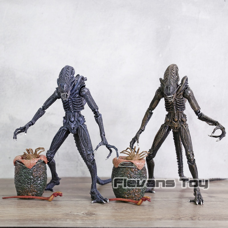 Aliens Eggs Facehuggers Chestburster PVC figuras de acción colección modelo estatuilla juguete regalo para niños 8 unids/set