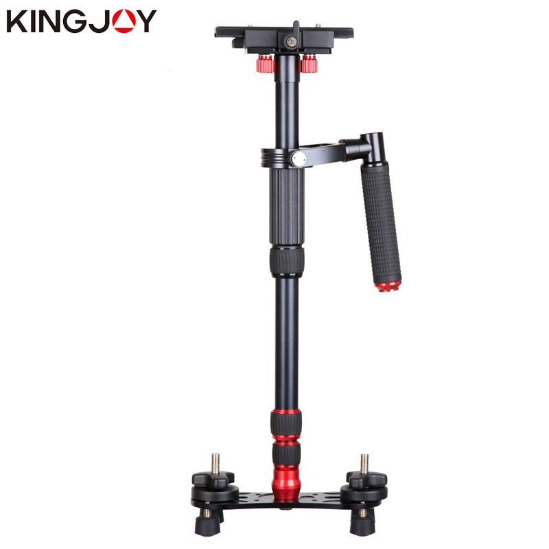 Kingjoy vs1047 único handgrip monopé dslr handheld câmera estabilizador tripé titular tripe suporte de vídeo para movil cardan dslr