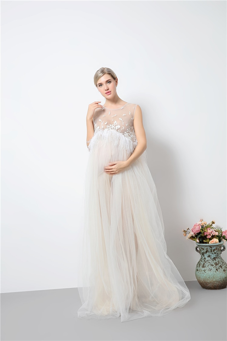 New Maternity Photography Props Maternity Dresses Voile Maxi Dresses Sleeveless Pregnant Women Dress Pregnancy enlarge