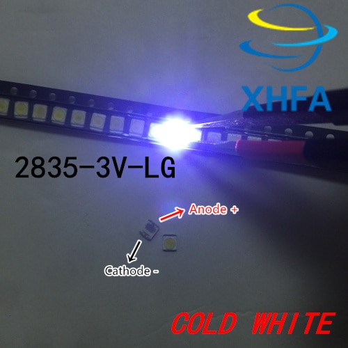 110 Uds LG Innotek LED retroiluminación 1210 3528 2835 1W 100LM blanco frío iluminación LCD trasera para TV aplicación de TV