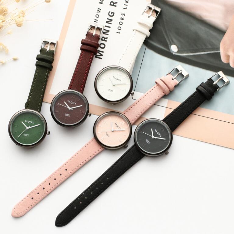 Women's Watches Fashion Geneva Brand Roman Numerals Faux Leather Analog Quartz Wrist Watch Women Fem