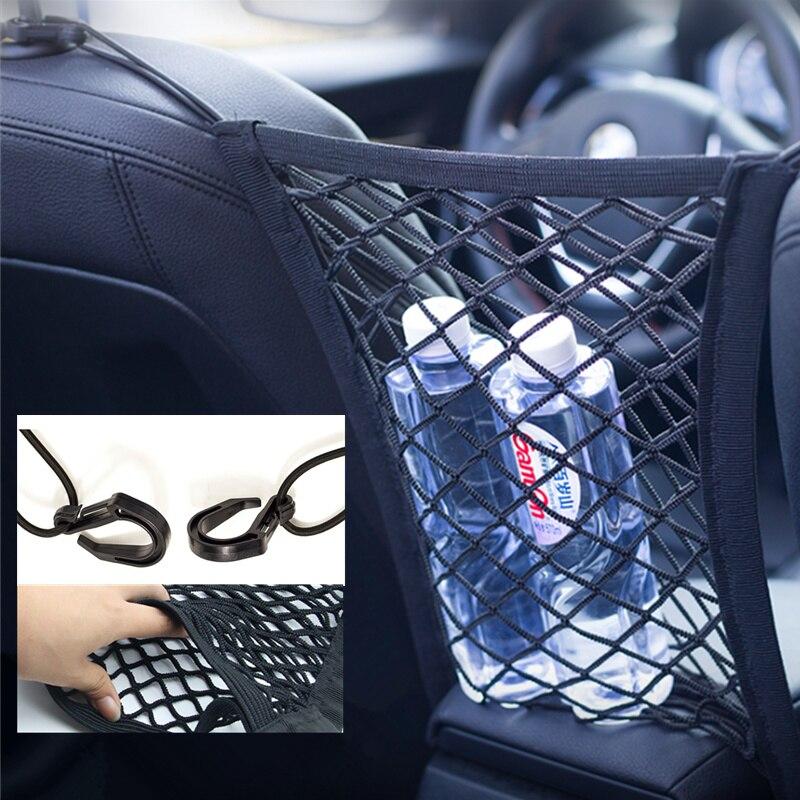 Organizador de carro net armazenamento assento de carro volta estiva malha acessórios para suzuki sx4 swift alto liane grand vitara jimny s-cross
