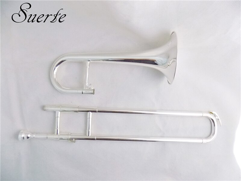 Bb Slide Trumpet with case mouthpiece Silver plated trumpets Yellow brass musical instruments trumpets enlarge