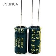 4 pièces/lot S11 haute fréquence basse impédance 63v 470UF aluminium condensateur électrolytique 470UF 20%