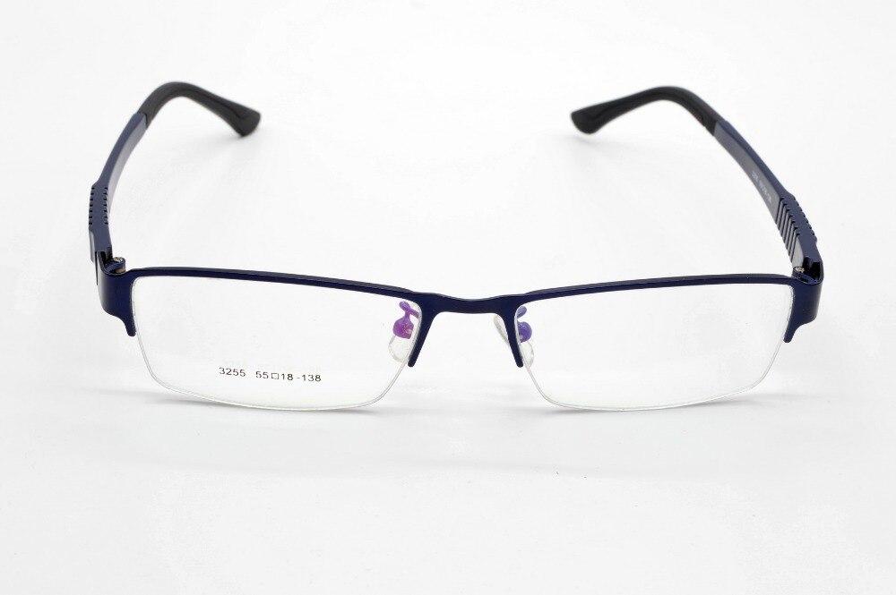 SEMI-RIM liga moda azul ultra leve óculos quadro personalizado miopia óptica e óculos de leitura lente + 1 1.5 2 2.5 3to 6