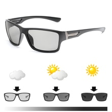 2018 new Men Driving Photochromic sunglasses 남성 편광 된 카멜레온 선글라스 변색 Sun glasses square sunglasses
