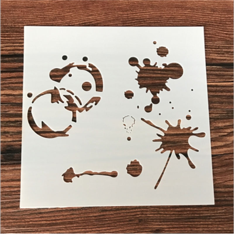 1 pc natal boneco de neve em forma de estêncil reutilizável airbrush pintura arte diy decoração para casa sucata reserva álbum artesanato