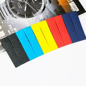 Male and female rubber strap accessories 22mm and 24mm are suitable for Breitling sports waterproof silicone black strap
