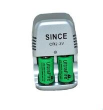새로운 2 개. 15270 CR2 800mAh 배터리 + 3V CR2 배터리 충전기, 리튬 배터리, 충전식 배터리, 디지털 카메라, 특수 제작