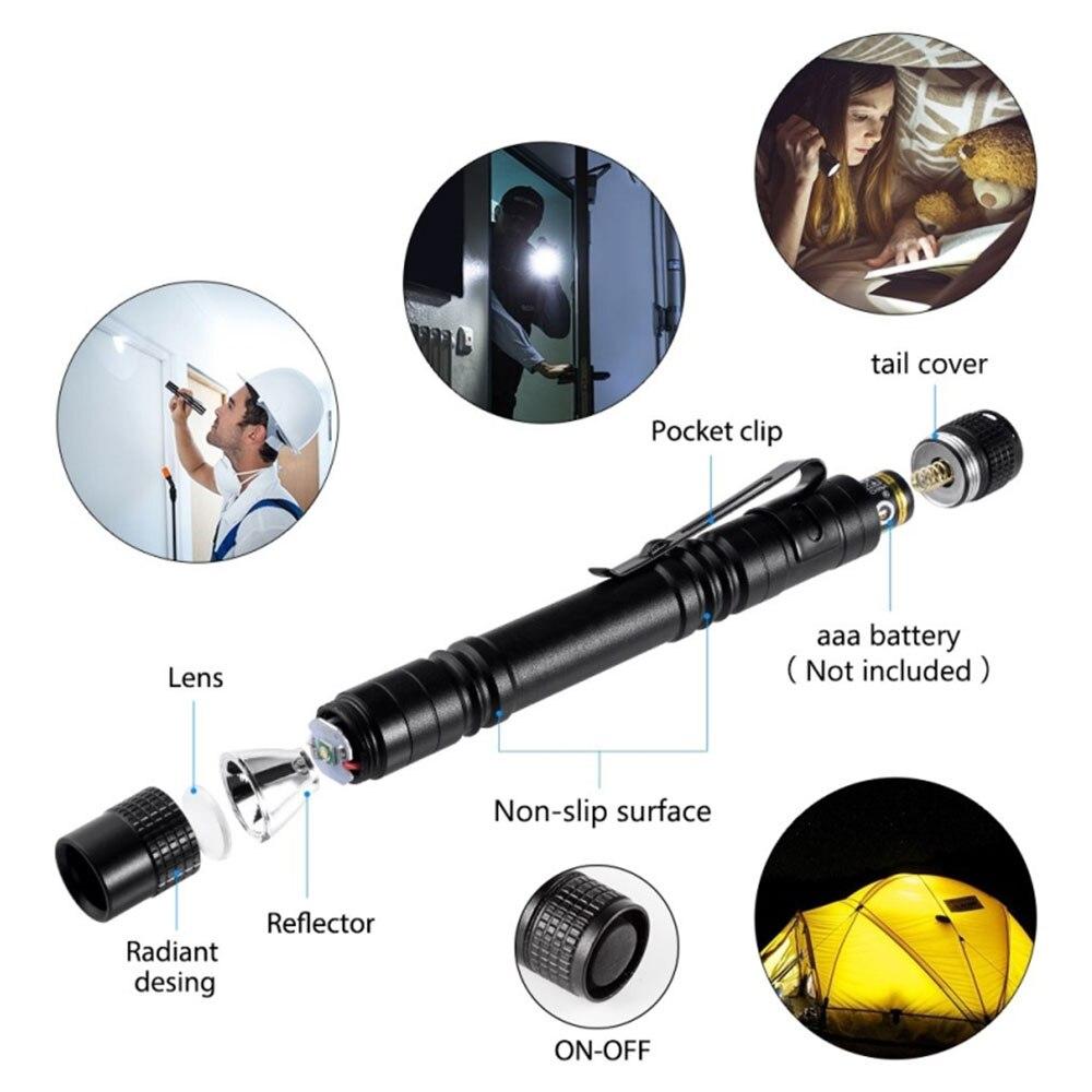 Pocketman 4 x Mini LED фонарик набор ручка ручка свет маленький портативный Linterna 2000 LM лампа карман фонарик для кемпинга% 2C рыбалка