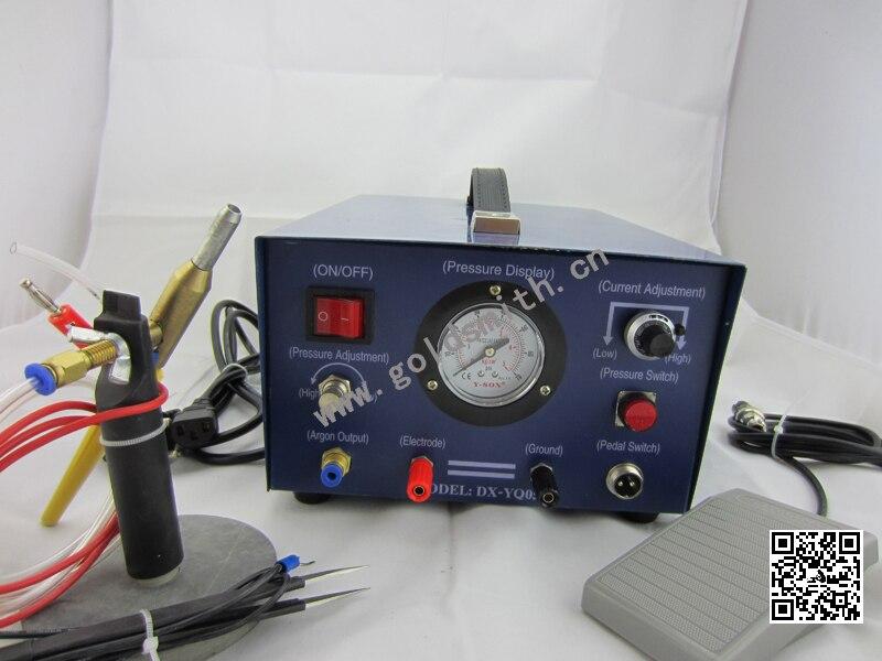 آلة لحام المجوهرات اللامعة ، آلة لحام الأرجون ، آلة لحام المجوهرات 220 فولت مع 1 قطب كهربائي
