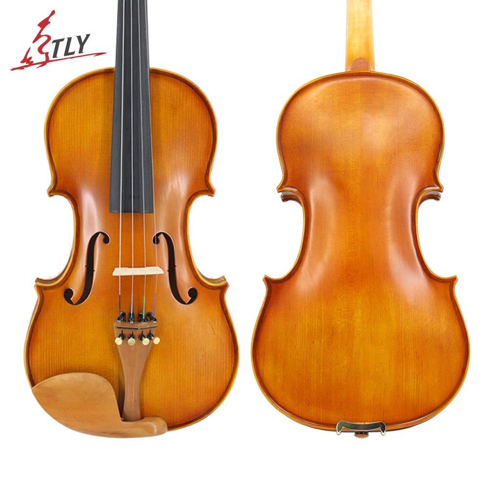 TONGLING, violín para principiantes de tamaño completo, con cara de abeto acabado mate, violín de arce 1/8 1/4 1/2 3/4 4/4, piezas de Jujube con arco