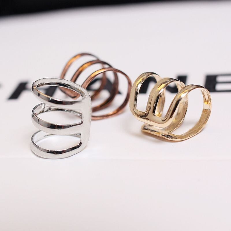 Pendientes de estilo Simple Europeo Mixto ahuecados tipo U con Clip para oreja para mujeres y hombres, joyería minimalista de moda no perforada 2018