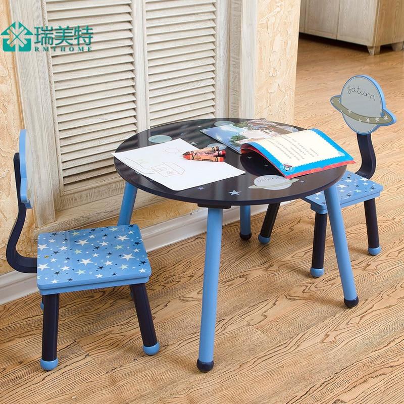Mesas e Cadeiras Bebê dos Desenhos Animados das Crianças Mobília do Berçário Mesa de Estudo Especial Combinação Terno Rui Eua