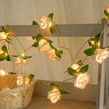 20 LED Rose fleur chaîne à piles fée lumières mariage maison anniversaire saint valentin événement fête guirlande décor Luminaria