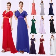 Grande taille mère de la mariée robes Ever Pretty EP09890 Double col en V manches courtes longue robe spéciale Occation robes de soirée