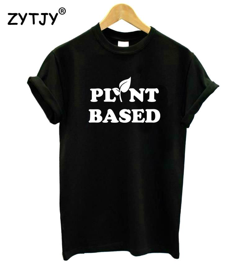 Camiseta con estampado de letras a base de plantas, camiseta Casual de algodón Hipster, divertida camiseta para chica, camiseta para mujer, camiseta Tumblr, envío directo BA-264