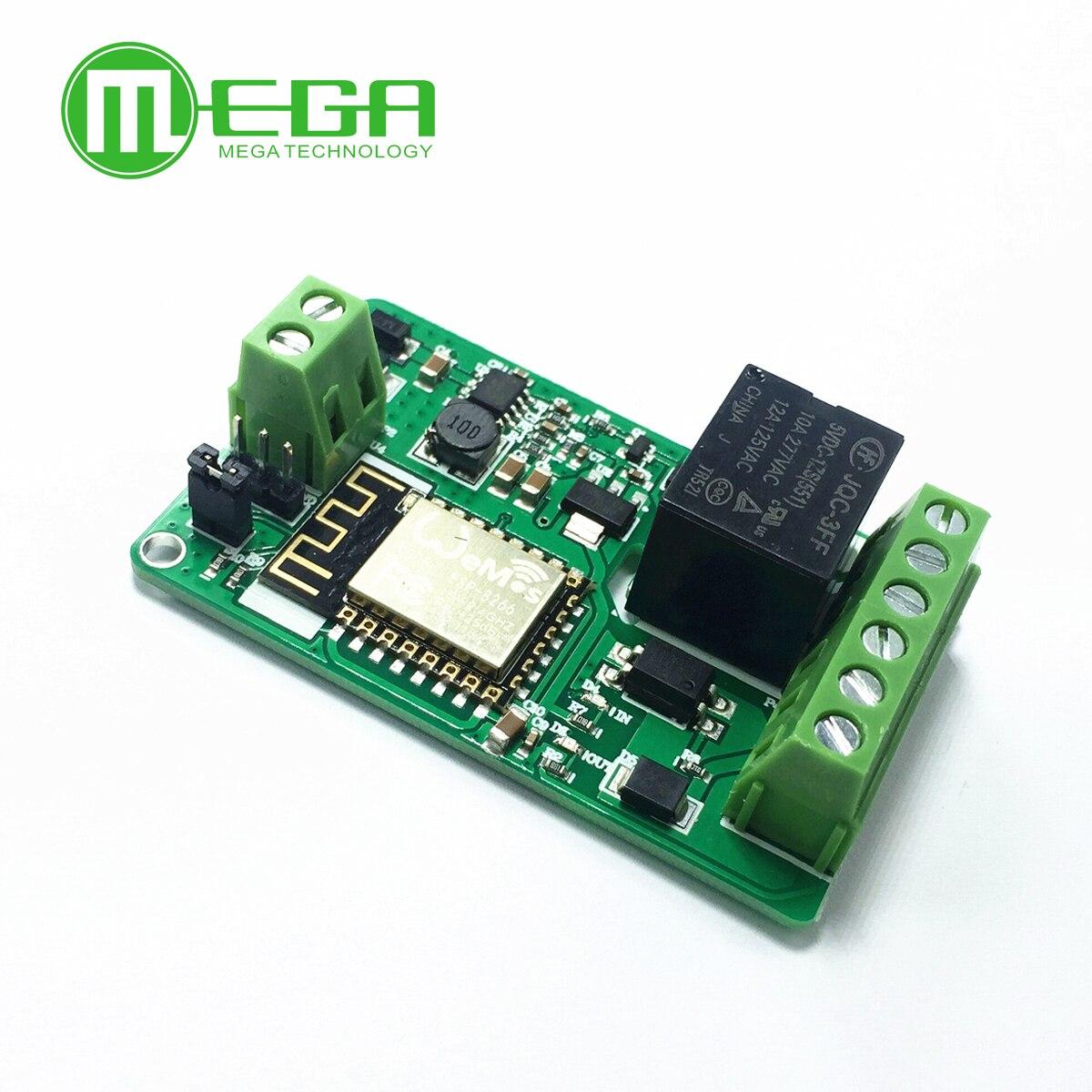 Verde esp8266 10a 220v rede relé módulo wifi entrada dc 7v modules 30v módulos