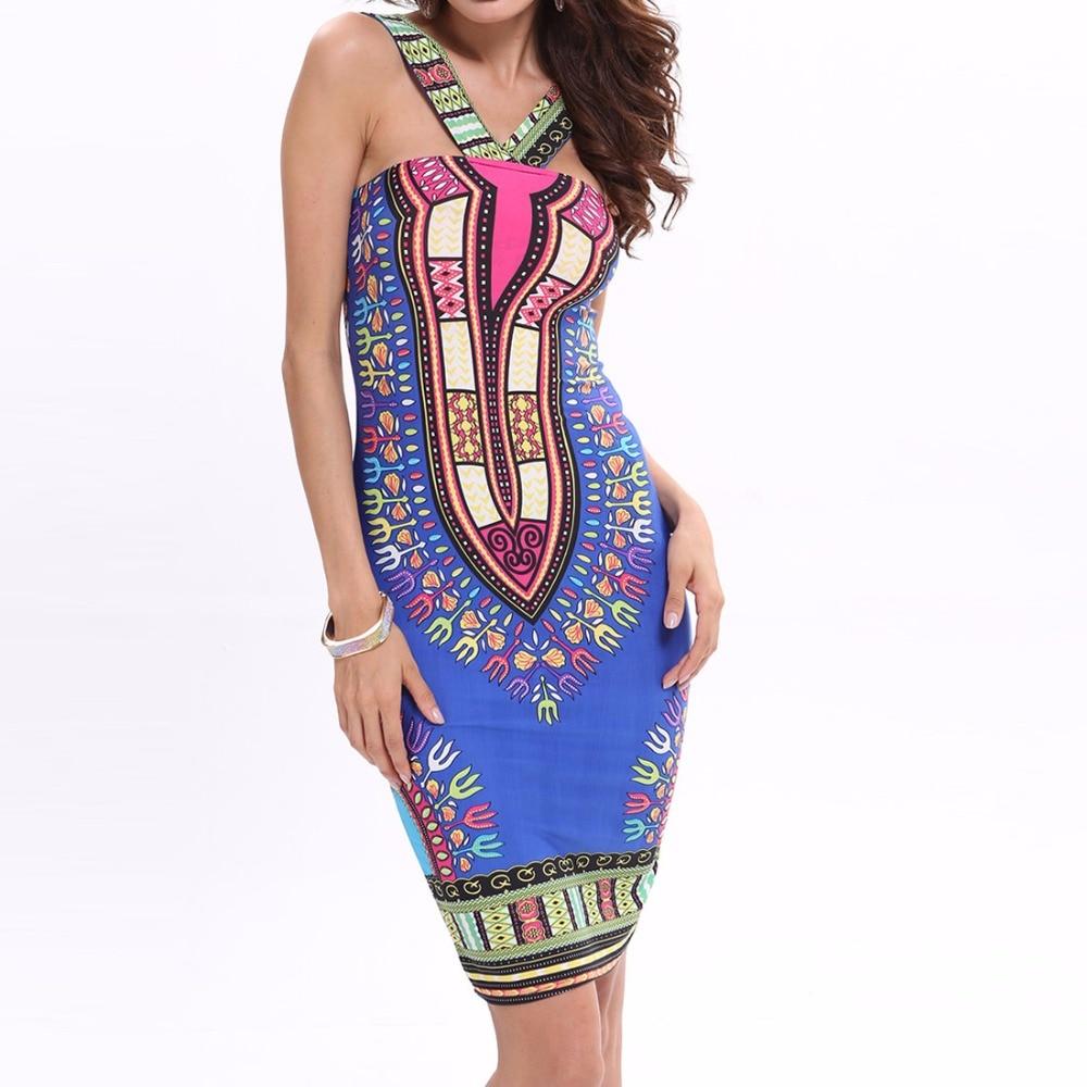 Vestidos africanos para mujer, estampado indio de talla grande Dashiki, ropa, femenina túnica, tela Boho Dashiki, verano Sexy Hippie