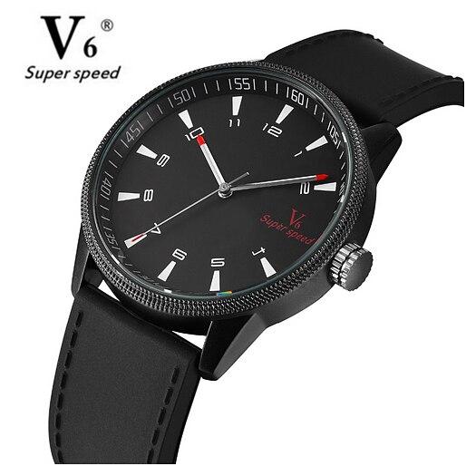 Reloj V6 para hombre, reloj militar de silicona, correas de reloj, pulsera deportiva impermeable, reloj Masculino negro, reloj de pulsera