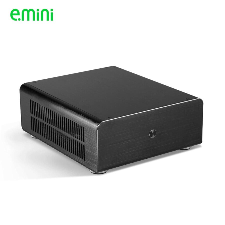 Marca mini itx caso para computador personalizado computador pc alumínio transparente