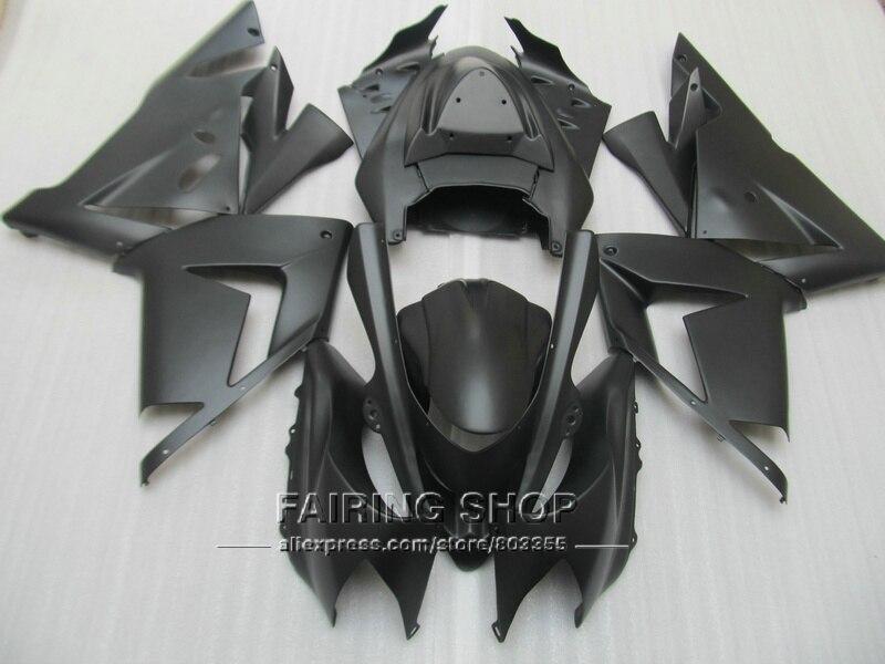 ZX-10R carenados para Kawasaki Ninja zx10r 2004 2005 04 05 Pop mate de inyección negro Kit de molde de carenado n67