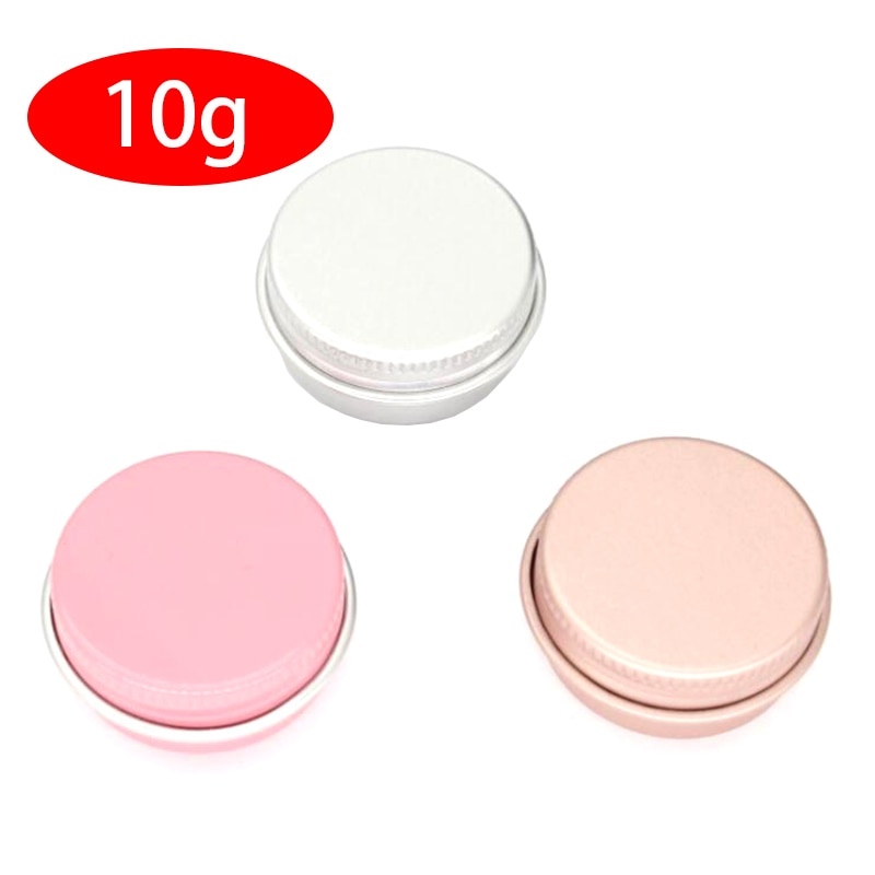 Frascos de aluminio para crema 100 Uds 10g con tapa de rosca, tarro para cosméticos, latas de aluminio de 10 ml, Envase de bálsamo de labio de aluminio
