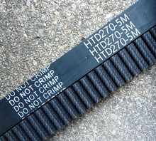 2 stuks HTD5M riem 270-5M-15 Tanden 54 Lengte 270mm Breedte 15mm 5 M distributieriem rubber gesloten-lus riem 270 HTD 5 M S5M Riem katrol