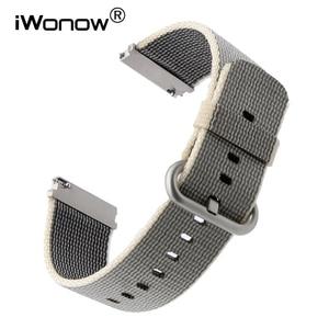 22mm Quick Release Nylon Watchband for Fossil Diesel DZ Timex Armani CK Watch Band Fabric Strap Wrist Bracelet Black Blue Brown