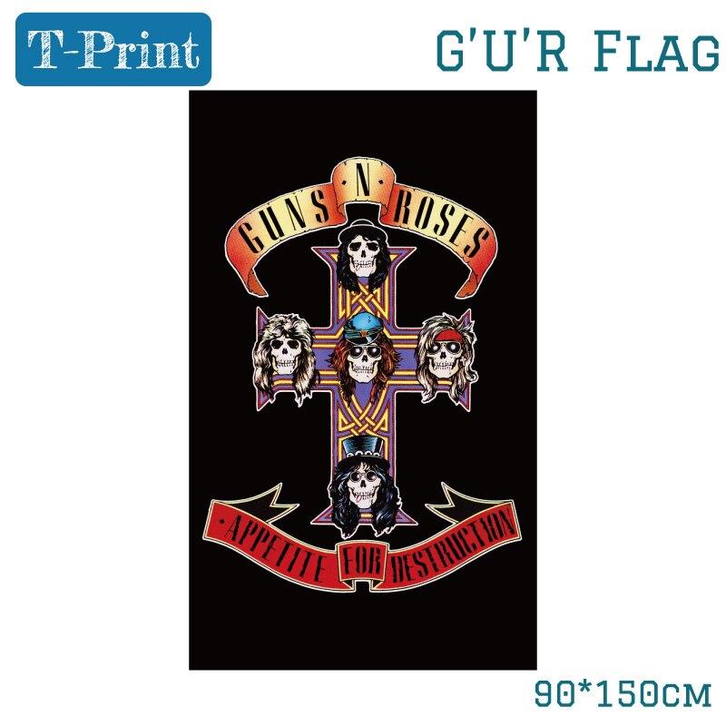 Постеры в виде ружья и розы в старом стиле, подвесные флаги в стиле Dark Souls, Декор стен для дома, спальни, 150*90 см, 3*5 футов