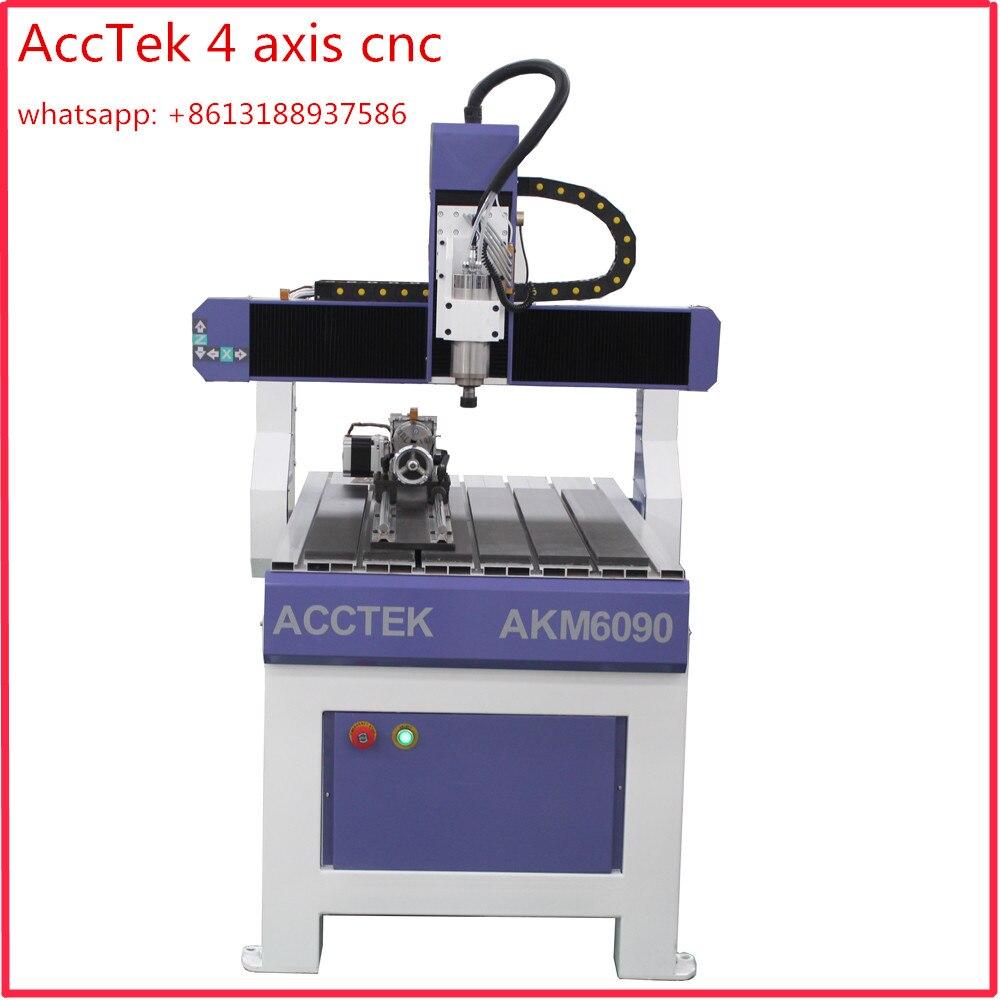 Enrutador servo de máquina cnc de escritorio para madera, cnc 6090