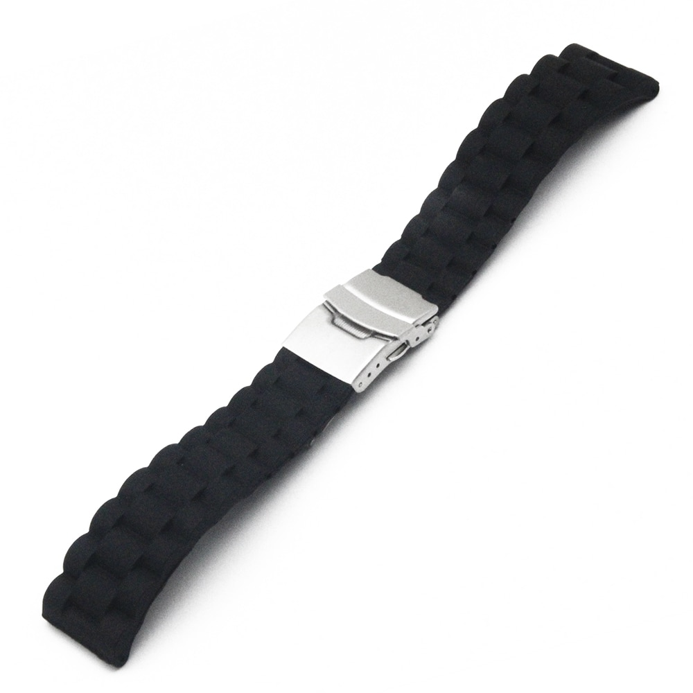 Silicone Rubber Watch Band 22mm for Asus ZenWatch 1 2 Men WI500Q WI501Q Stainless Steel Clasp Strap Wrist Loop Belt Bracelet