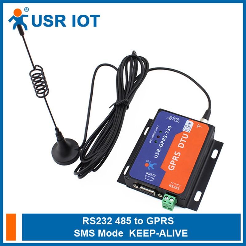 USR-GPRS232-730 série rs232 rs485 ao servidor gprs dtu dos modems de gsm controle de fluxo tcp udp rts cts apoiado rohs weee certificate064