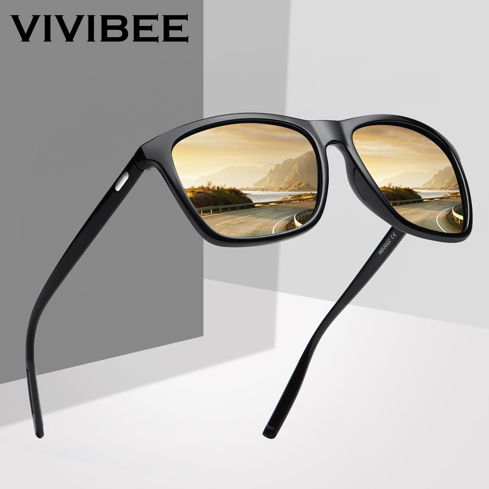 VIVIBEE Square Sunglasses Polarized for Men 2021 Trending Design UVA UVB Protection Sun Glasses Wome