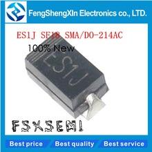 100 sztuk/partia nowy ES1J SF18 1A 600V DO214AC SMA dioda szybkiego odzyskiwania
