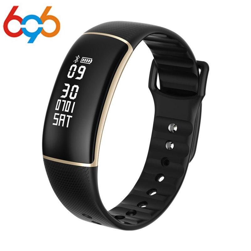 696 A69 pulsera inteligente podómetro pulsera inteligente con Monitor de ritmo cardíaco presión arterial rastreador de Fitness