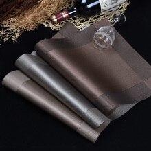 WHQ 4 teile/los Tischset mode pvc esstisch matte bremsbeläge schüssel pad untersetzer wasserdichte tisch tuch pad slip- unterlage