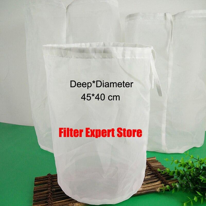 45*40 cm 5 galão malha fina do produto comestível nylon home brew mash filtro de saco de filtro para o lote de homebrew saco balde pode ser customerized