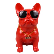 Bril Franse Bulldog Standbeelden Beeldjes Dier Hond Art Sculptuur Hars Art & Craft Woondecoratie Accessoires R542