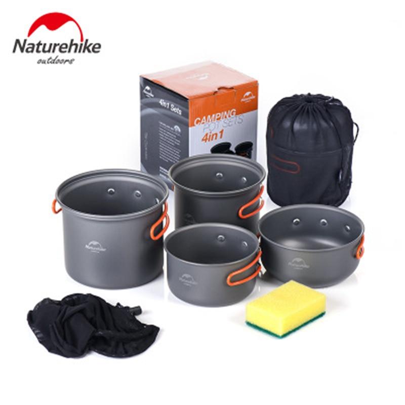 Naturehike-Juego de utensilios de cocina para acampar al aire libre, juego de...