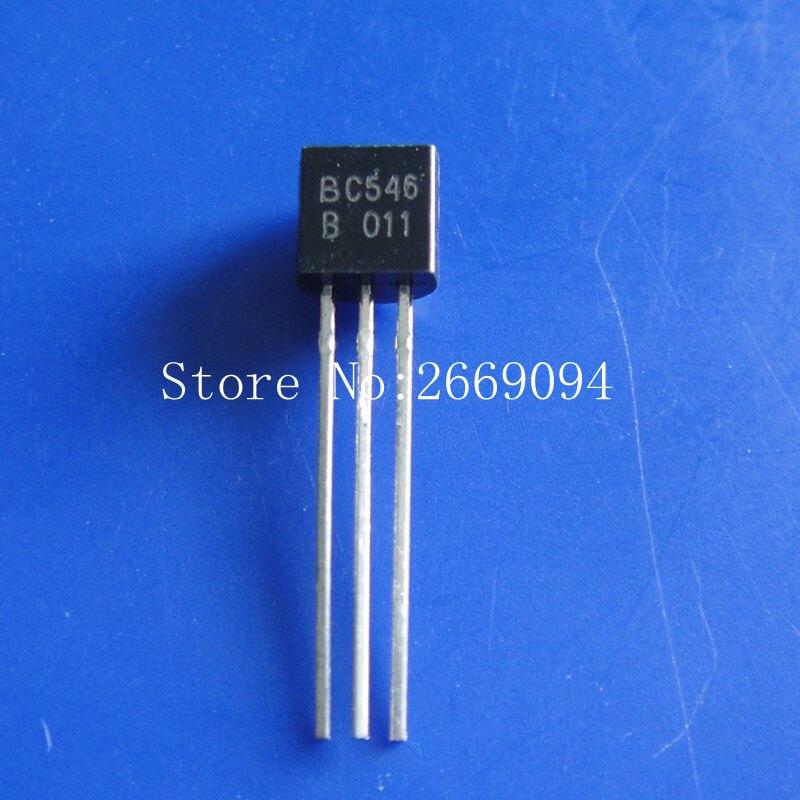 100 pcs frete grátis BC546B BC546 TO-92 Transistores Bipolares-BJT NPN