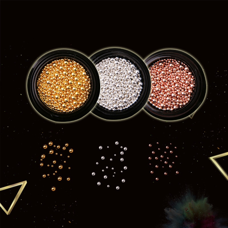 Nail Art Decoration Metal Beads Golden Silver DIY 3D Nail Art Tools Women Nails Decors SSwell